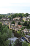 Reflections of the Knaresborough arch bridge Royalty Free Stock Image