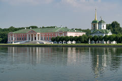 Reflections of Kuskovo Palace and Church of Our Savior Stock Photography