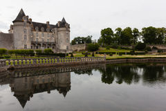 Reflections in La Roche Courbon castle Royalty Free Stock Photography