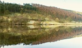 Reflections on Ladybower Stock Image