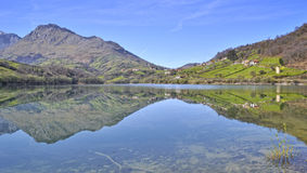 Reflections on the lake. Landscape with lake and mountain reflected in water Royalty Free Stock Photography