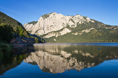 Reflections at Lake Altaussee Royalty Free Stock Images