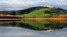 Reflections on lake Stock Image