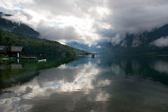 Reflections on Lake Bohinj Royalty Free Stock Photo