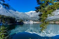 Reflections of lake Doksa stock photos