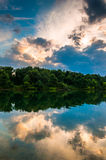 Reflections in Lake Marburg at sunset, Codorus State Park, Penns Stock Photos