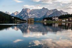 Reflections in Lake Misurina royalty free stock photos