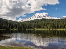 Reflections in a lake in the mountains Royalty Free Stock Photos