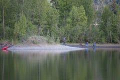 Reflections Lake Palmer Alaska stock images