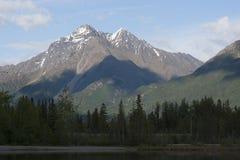 Reflections Lake Palmer Alaska stock photography