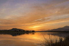 Reflections on the lake at sunset Royalty Free Stock Images