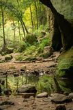 The Lower Dells, Matthiessen state park. Royalty Free Stock Photography