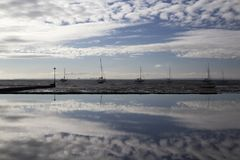 Reflections at Leigh-on-Sea, Essex, England Royalty Free Stock Photos
