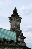 Sun rays on the sculptures on the roof of a Reichstag Cupola Stock Image
