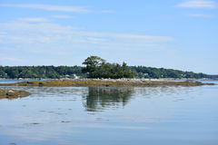 Reflections of Little Frenches in Casco Bay Royalty Free Stock Image