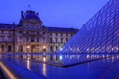 Reflections at the Louvre Museum in Paris Royalty Free Stock Photography