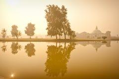 Reflections in Lumbini Stock Images