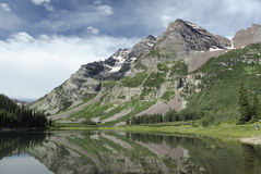 Reflections of Maroon Bells in Colorado Royalty Free Stock Photo