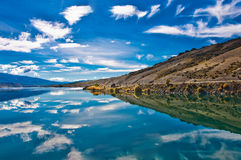 Reflections in Mirror Lakes. New Zealand royalty free stock image