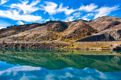 Reflections in Mirror Lakes. New Zealand royalty free stock images
