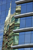 Reflections in a modern building Stock Photo