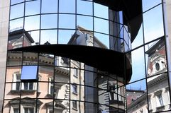 Reflections in the Modern Building. royalty free stock photography