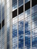 Reflections on a modern office building. Perspective corrected Royalty Free Stock Image