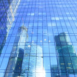 Reflections of modern office buildings Royalty Free Stock Photos