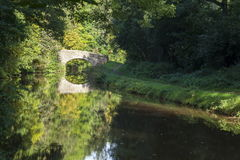 Reflections on the Monmouthshire canal Royalty Free Stock Image
