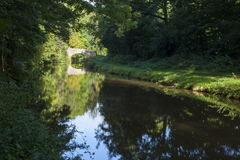 Reflections on the Monmouthshire canal Royalty Free Stock Photos