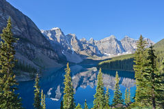 Reflections in Moraine Lake Royalty Free Stock Photo