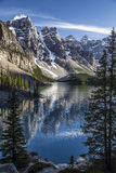 Reflections of Moraine Lake Stock Images