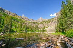 Reflections in a Mountain Lake Royalty Free Stock Image