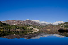 Reflections of the mountains. Beautiful reflections of the mountains in the lake Stock Image