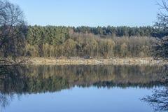 Reflections on Nemunas Stock Image
