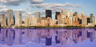 Reflections of New York City Royalty Free Stock Image