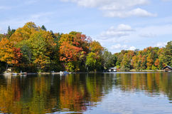Reflections Of Fall Colors On A Tranquil Lake 5 Royalty Free Stock Photos
