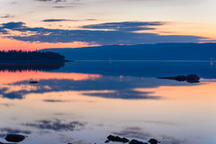 Free Reflections Of The Sky Before The Rising Sun Royalty Free Stock Image - 40581286