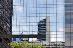 Reflections in office building windows Royalty Free Stock Photo