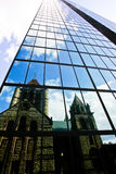 Reflections Old and New stock photo