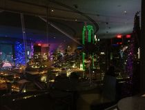 Free Reflections On Glass Windows And Downtown Dallas View From Reunion Tower Geo Deck Stock Photography - 159986842