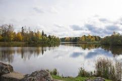 Reflections. Oranienbaum. The pond near the Menshikov Palace Royalty Free Stock Photos