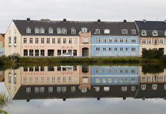 Reflections on a palace in denmark royalty free stock photos