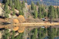 Reflections on the Pend Oreille River. Stock Photography