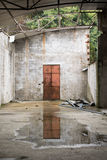 Reflections. This photo was taken in an abandoned factory royalty free stock photography