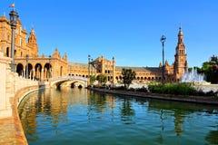 Reflections at Plaza de Espana, Sevilla, Spain Royalty Free Stock Image