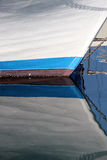 Reflections of the prow of an old sailboat Royalty Free Stock Photo