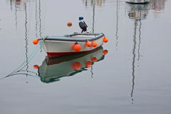 Reflections in a quiet harbour Royalty Free Stock Images