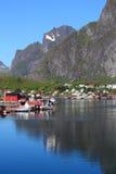 Reflections of  Reine in Lofoten Royalty Free Stock Photo