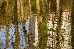 Reflections and ripples royalty free stock photos